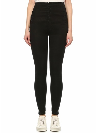 J Brand J Brand 101601550 Natasha Düğme Detaylı Jean Kadın Pantolon Siyah